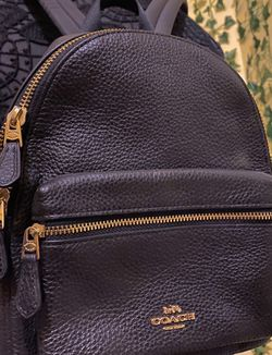 New Used Black Mini Coach Backpack! for Sale in Alexandria,  VA