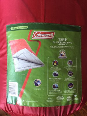 Coleman 40 degree Adult sleeping bag for Sale in Providence, RI