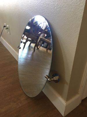 Tilting oval mirrors 18 x 26 (1)$30 (2)$50 for Sale in Corona, CA