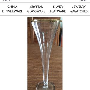 2 Fluted Champagne Glasses for Sale in Aurora, IL