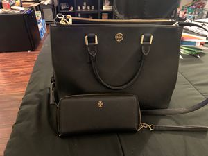Tory Burch purse and matching wallet for Sale in Perris, CA