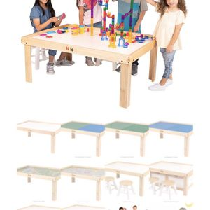 Childrens Nilo Toy Table & Storage Benches With Graphic Mat (New Price was $532) for Sale in Placentia, CA