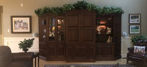 Beautiful wood wall unit bookshelves. 4 pieces available, center tv section not included. for Sale in Jupiter, FL
