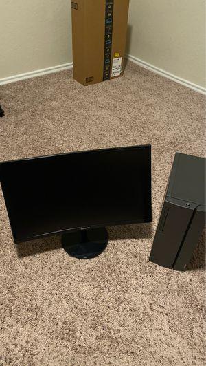 "lenovo desk top whit a samsung curve monitor 24"" for Sale in Orlando, FL"