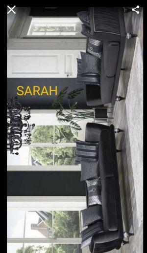 Brand New 🧿🧿🧿Lisbet Black Velvet comfortable🧿 Sofa & Loveseat🧿 No credit check 🧿 39 down 🧿 for Sale in Houston, TX