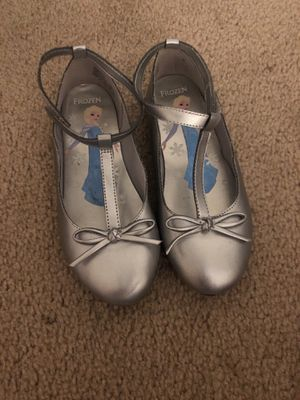 Frozen silver shoes girl size 11 for Sale in Chesapeake, VA