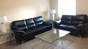 Black Leather Sofas for Sale in Tampa, FL