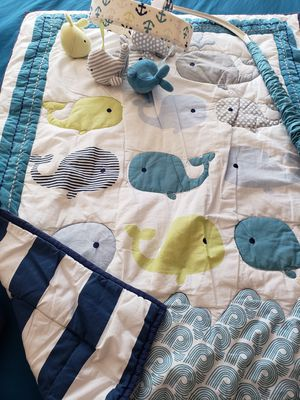 Whale baby crib bedding for Sale in San Diego, CA
