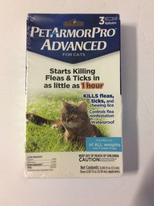 Pet Armor Pro Advanced For Cats Flea and Tick For All Weights for Sale in San Diego, CA