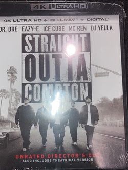 "Brand New Factory Sealed ""STRAIGHT OUTTA COMPTON"" 4K UHD + BLURAY + DIGITAL for Sale in Ontario,  CA"