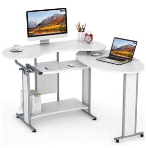 L-Shaped Computer Desk with Rotating Corner for Sale in San Francisco, CA