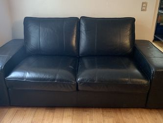 Black Leather Loveseat for Sale in San Francisco,  CA