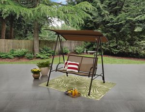 2 Person Canopy Patio Garden Yard Porch Swing Outdoor Furniture Sling Seats Tan for Sale in Colorado Springs, CO