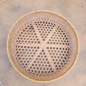 Rattan Boho Wall Basket Or Tray for Sale in Tempe, AZ