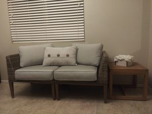 MOVING PRICED TO SELL Outdoor Modular Sofa & Teak Table for Sale in Chandler, AZ