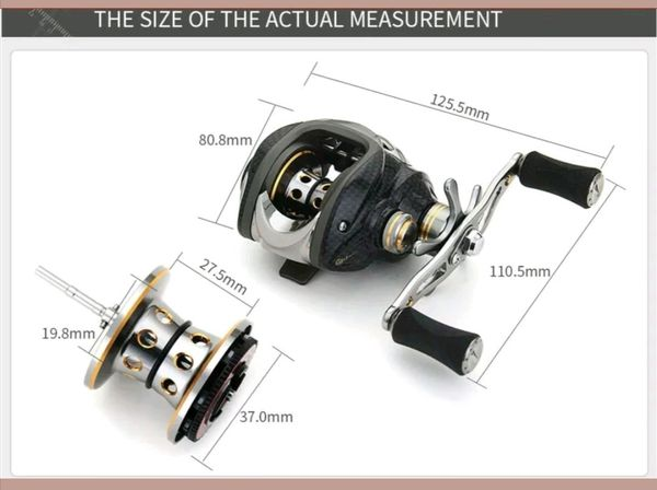low profile bait caster fishing reel right hand retrieve