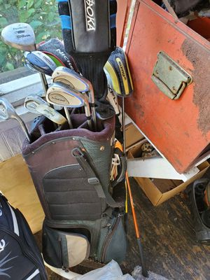 Golf Clubs Used with caddy holder for Sale in East Haven, CT