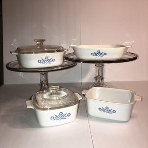 Vintage CorningWare Blue Corn Flower 4 Dish Set for Sale in Gainesville, FL