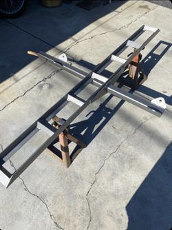 Motorbike hitch rack stainless steal build never stains last forever don't buy cheap aluminum settle for better can paint any color you desire for Sale in Long Beach,  CA