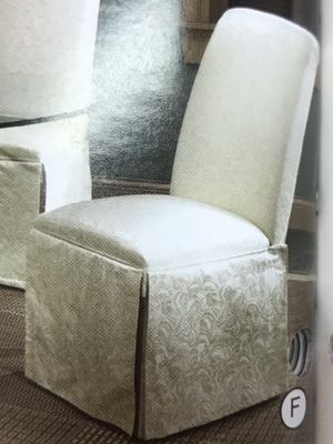 2 WHITE PARSON CHAIRS $120 for Sale in Denver, CO