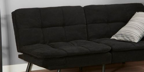 Mainstays Memory Foam Futon, Black Suede for Sale in San Diego,  CA