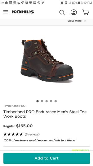 TIMBERLAND PRO STEEL TOE ANTI-FATIGUE PUNCTURE RESISTANT SOLE for Sale in Chicago Heights, IL