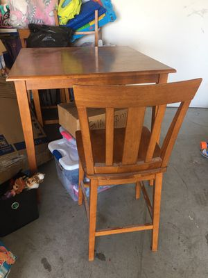 Wood pub style kitchen table for Sale in Melbourne, FL