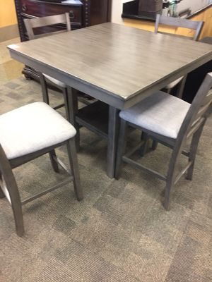 5-PC Grey Breakfast Table for Sale in Houston, TX