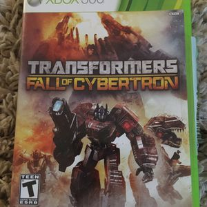 XBox 360 Transformers Fall Of Cybertron for Sale in Fresno, CA