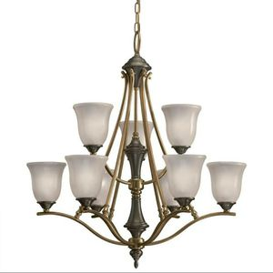 Aztec 34246 by Kichler Lighting Nine Light Hanging Chandelier in Royal Bronze Finish for Sale in Kent, WA