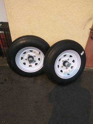 5.30-12in Tire With 5 Lug Rim Load C for Sale in City of Industry, CA