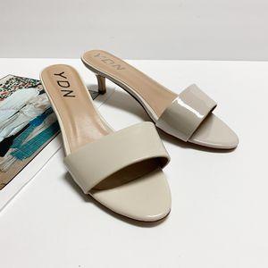 size 9 YDN Women Low Stiletto Heels Sandals Open Toe Kitten Mules for Sale in Las Vegas, NV