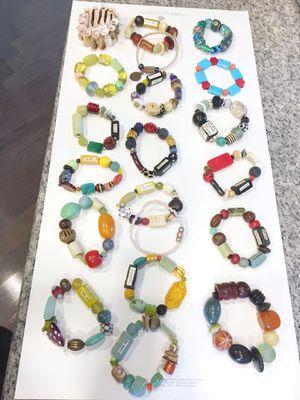 Bulk lot 20 beaded stretch bracelets for Sale in Seattle, WA