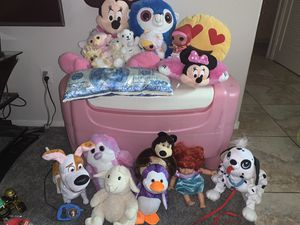 Toy chest with toys!! Ryan's toys included! for Sale in Las Vegas, NV