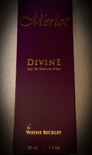 LOT OF 2! Merlot Divine by Wayne Beckley Eau de Parfum/Perfume Spray - Made in San Francisco, CA. USA. - Full Luxury Size 1.7 fl. oz for Sale in San Diego, CA