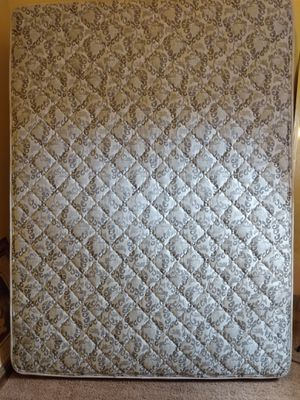 Clean and comfortable full size bed mattress box springs and rails $175 delivery available for Sale in Detroit, MI