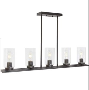 Contemporary Chandeliers Pendant Lighting Fixtures Hanging Oil Rubbed Bronze for Kitchen Island w/ Clear Glass Shades Dining Room, Family Room for Sale in Los Angeles, CA