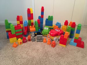 Giant lot of mega blocks and kids at work building toys! for Sale in Lutherville-Timonium, MD