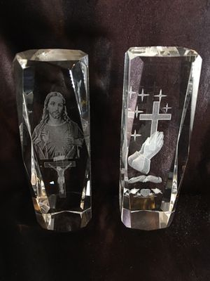 Jesus - Christian Glass collectibles + FREE... for Sale in Stockton, CA