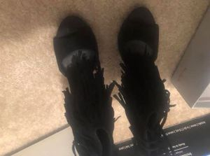 Black fringe heels for Sale in Macon, GA