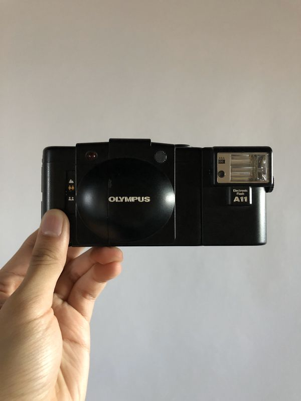 Olympus xa2 with a11 flash