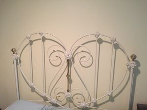 Wrought Iron heart shape headboard for Sale in Florissant, MO