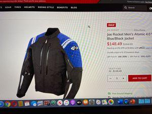 Joe Rocket Men's Atomic 4.0 Waterproof Blue/Black Jacket for Sale in Atlanta, GA