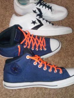 Converse All Stars...blue 10 ......white 12 for Sale in Marietta,  GA