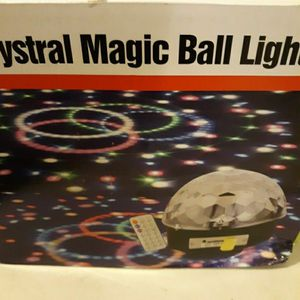 Crystal Magic Ball LED Lights Bluetooth Speaker Remote Control for Sale in Mableton, GA