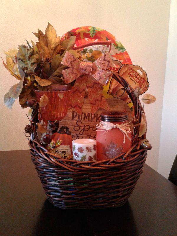 One of a kind fall pumpkin spice gift basket