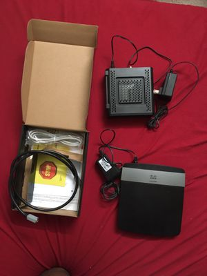 SurfBoard SB6121 Modem & Linksys E2500 Advanced router for Sale in Hillsboro, OR