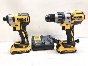 DEWALT 20-Volt MAX Lithium-Ion Cordless Brushless Combo Kit (2-Tool) and 20-Volt Battery and Charger for Sale in Bakersfield, CA