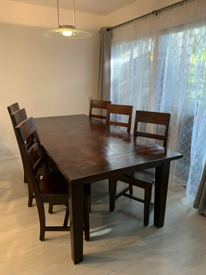 Crate and Barrel mahogany dining set for Sale in Santa Monica, CA