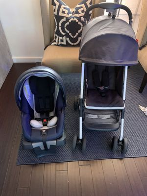 GG car seat, stroller and britax mirror for Sale in Irving, TX
